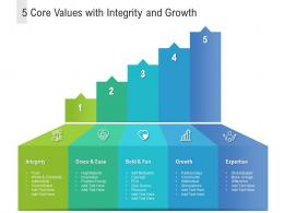 5 Core Values With Integrity And Growth