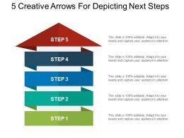 5 Creative Arrows For Depicting Next Steps Powerpoint Shapes
