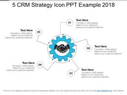 5 Crm Strategy Icon Ppt Example 2018