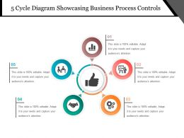 5 Cycle Diagram Showcasing Business Process Controls Powerpoint Guide