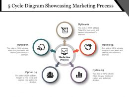 5 Cycle Diagram Showcasing Marketing Process Powerpoint Slide Graphics