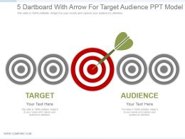 5 Dartboard With Arrow For Target Audience Ppt Model