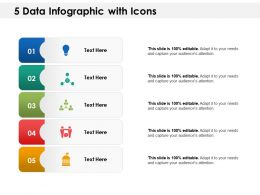 5 Data Infographic With Icons