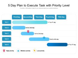 5 Day Plan To Execute Task With Priority Level