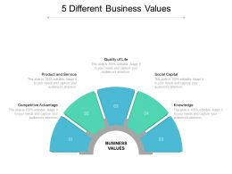 5 Different Business Values