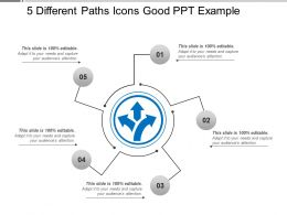 5 Different Paths Icons Good Ppt Example