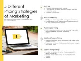 5 Different Pricing Strategies Of Marketing