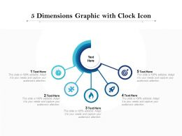 5 Dimensions Graphic With Clock Icon