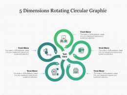 5 Dimensions Rotating Circular Graphic