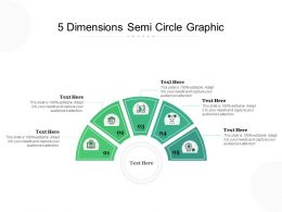 5 Dimensions Semi Circle Graphic