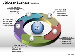 5 division business process powerpoint diagram templates graphics 712