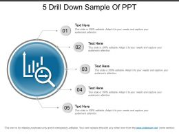5 Drill Down Sample Of Ppt