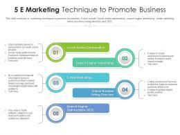 5 E Marketing Technique To Promote Business