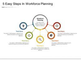 5 Easy Steps In Workforce Planning Powerpoint Slide Presentation Guidelines