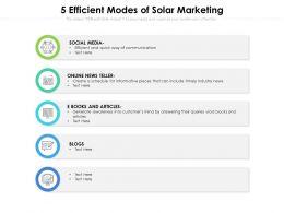 5 Efficient Modes Of Solar Marketing