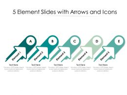5 Element Slides With Arrows And Icons