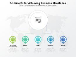 5 Elements For Achieving Business Milestones