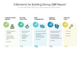 5 Elements For Building Strong QBR Report