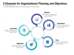 5 Elements For Organizational Planning And Objectives