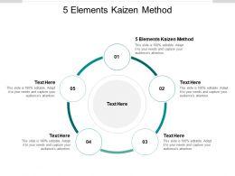 5 Elements Kaizen Method Ppt Powerpoint Presentation Infographics Slides Cpb