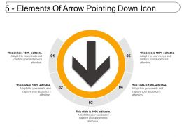 5 Elements Of Arrow Pointing Down Icon