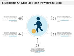 5 Elements Of Child Joy Icon Powerpoint Slide