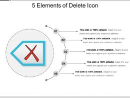 5 Elements Of Delete Icon