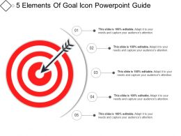 5 Elements Of Goal Icon Powerpoint Guide