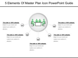 5 Elements Of Master Plan Icon Powerpoint Guide