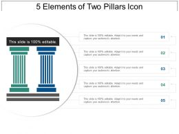 5 Elements Of Two Pillars Icon Powerpoint Themes