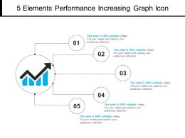 5 Elements Performance Increasing Graph Icon