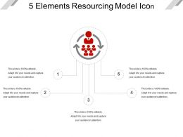 5 Elements Resourcing Model Icon PPT Slides Download