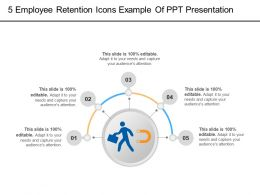 5 Employee Retention Icons Example Of PPT Presentation