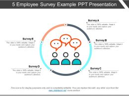 5 Employee Survey Example Ppt Presentation
