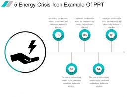 5 Energy Crisis Icon Example Of Ppt