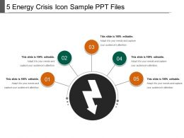 5 Energy Crisis Icon Sample Ppt Files