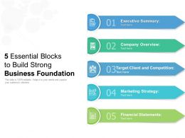 5 Essential Blocks To Build Strong Business Foundation