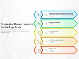 5 Essential Human Resource Technology Tools