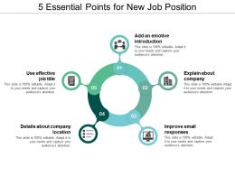 5 Essential Points For New Job Position