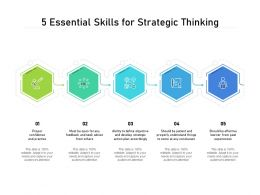 5 Essential Skills For Strategic Thinking