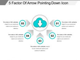 5 Factor Of Arrow Pointing Down Icon