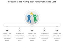5 Factors Child Playing Icon Powerpoint Slide Deck
