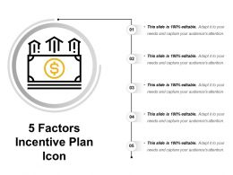 5 Factors Incentive Plan Icon