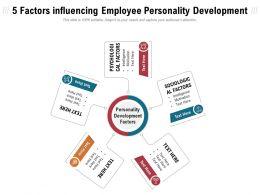 5 Factors Influencing Employee Personality Development