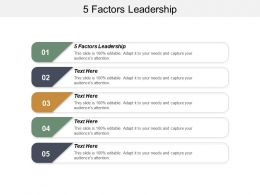 5 Factors Leadership Ppt Powerpoint Presentation Gallery Clipart Images Cpb