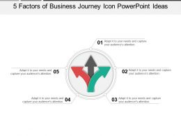 5 Factors Of Business Journey Icon Powerpoint Ideas