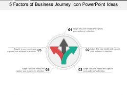 5_factors_of_business_journey_icon_powerpoint_ideas_Slide01