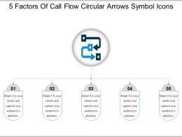 5 Factors Of Call Flow Circular Arrows Symbol Icons