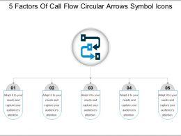 5_factors_of_call_flow_circular_arrows_symbol_icons_Slide01