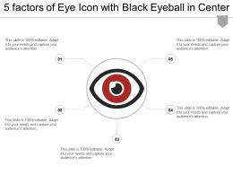 5 Factors Of Eye Icon With Black Eyeball In Center